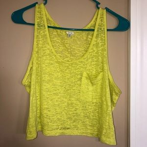 Tops - Yellow Washed Tank 3 FOR $10